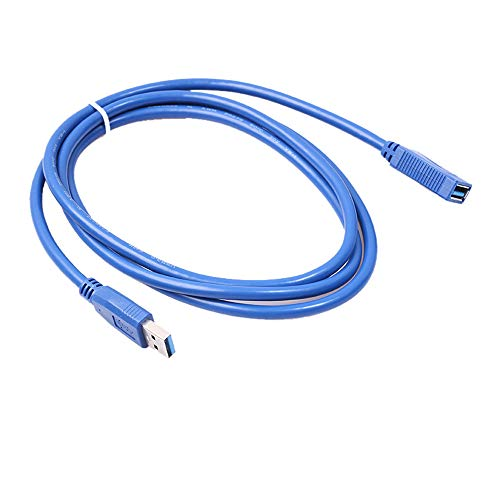 Daten Kabel Super Speed USB 3.0 Stecker auf Buchse Datenkabel Verlängerungskabel für Laptop PC (0.3m Blau)