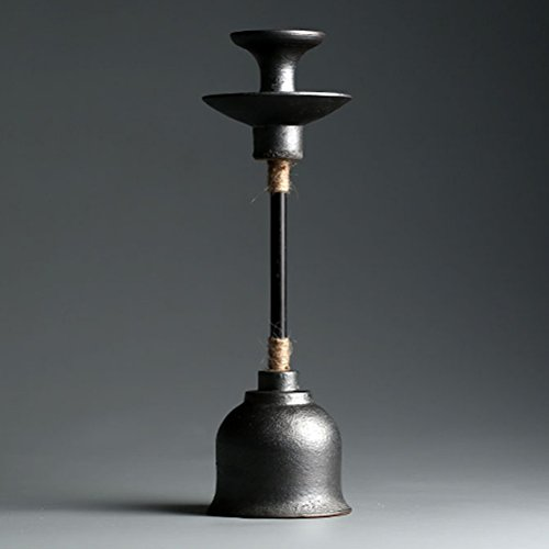 Candlesticks LUYIASI- Lámpara Aceite Antiguo esmaltado