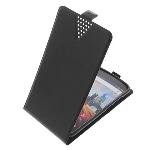 foto-kontor Tasche für Archos 50e Helium Flip Style Ultra-dünn Schutz Hülle Schwarz