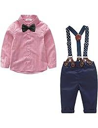 2f64eb99a Yilaku Bebés Juego de Ropa Camisas y Pantalones Conjunto para Bebé Niño