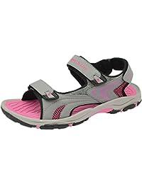 Femmes Coupe Large Trekking Sandales By Dunlop