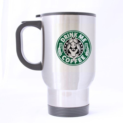 XOX-T Custom Funny Starbucks Disney Inspired Alice in Wonderland Drink Anniversary Gift Travel Mug