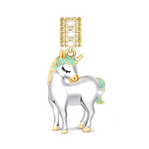 925 Sterling Silber passend für Pandora, die meisten amerikanischen europäischen Armbänder - Gold ()