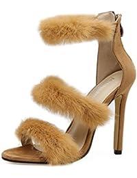 QIN&X Bloc de Femmes Peu Profondes Bouche High Heels Sandales Chaussures de Mariage Prom Pompes Cour,Blanc,45
