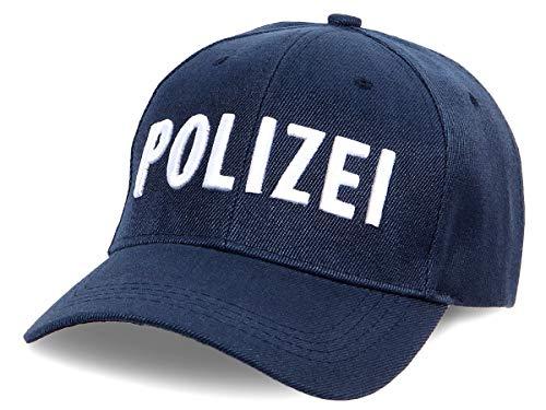 Alsino Polizei Mütze Baseball Cap Kappe Käppi Basecap - Farbe: Blau - verstellbar - 100% Baumwolle