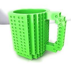 Taza Lego–costruisci directamente en la taza formada por de briquetas–350ml Verde
