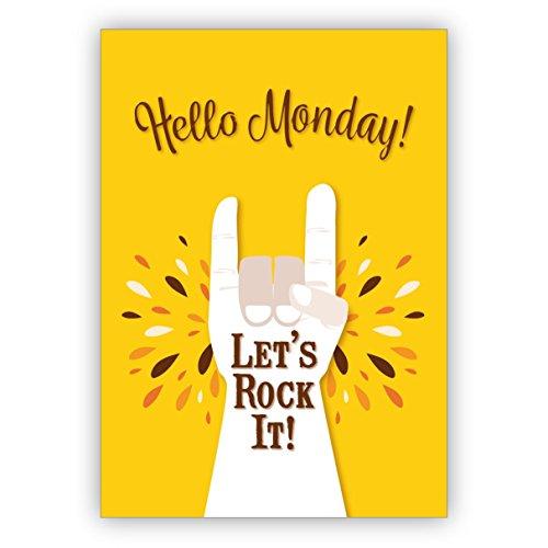 sche Motto Grußkarte für beste Freunde:Hello Monday - Let's rock it! (1. Geburtstag Motto-ideen Für Jungen)