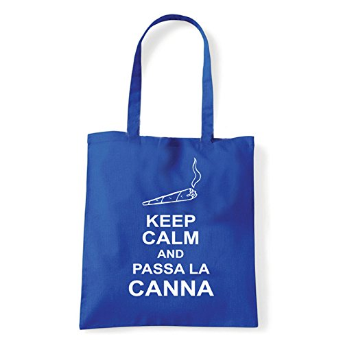 Art T-shirt, Borsa Shoulder passa-la-canna Blu