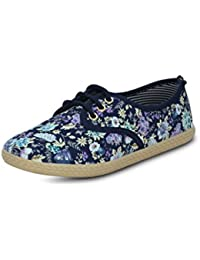 GET GLAMR Women's Blue Sneakers (Get (Get-2275) - 7 UK