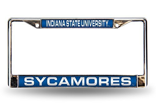 Indiana State Sycamores Official NCAA 12Inch x 6Inch Metal License Plate Frame by Rico Industries by Rico