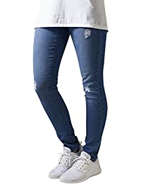 Urban Classics Ladies Ripped Denim Pants, Jeans Femme