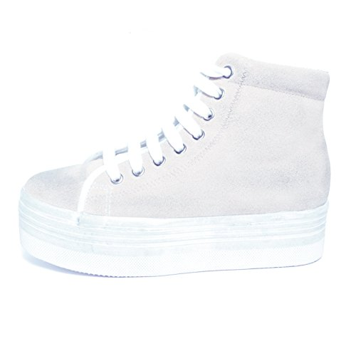 JEFFREY CAMPBELL - .HOMG SUEDE WASH - WHITE W (38)