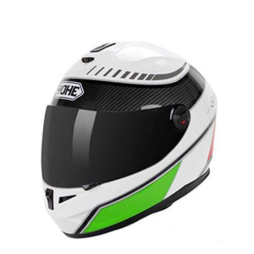 MT&CHEYTN Cascos de Moto Casco de Moto de Motocross con Visor de Lente PC Tienen 18 Colores Army Green XL