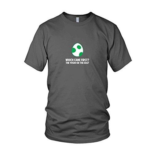 Which came first - Herren T-Shirt, Größe: XL, Farbe: (Yoshi Und Toad Kostüm)