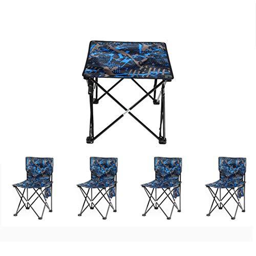 YUWJ Camping hocker Falten tragbare licht Camp hocker im freien billig tragbaren klappstuhl geeignet für Strand Grill Reise Picknick,Blue,fivepiece