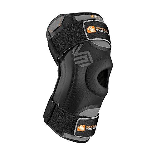 ShockDoctor Erwachsene Knieschützer Stützen Kniestütze mit Flexiblen Stabilisatoren Bandage, Black, L -