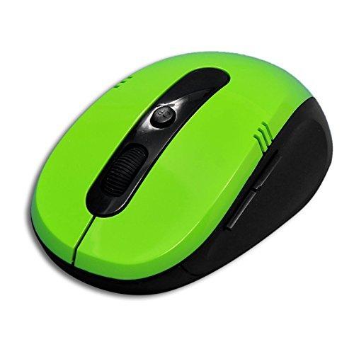 Laptone Kabellose Maus, 2,4G Wireless Tragbare Mobile Computer Maus Mäuse mit Life Time Garantie, 1600DPI 3Anpassung Ebenen, USB-Nano-Empfänger, Auto schlafen Design-Grün Wireless Mobile Usb