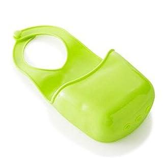 Da.Wa Toilet Soap Shelf Organizer Silikon Duschkorb Küche Basket with Hook für Ausguss Spülbecken Wasserhahn,set of 1,19x8.5cm,Grün