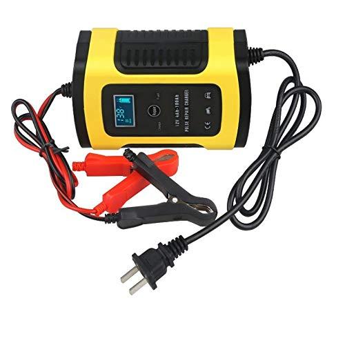 Caricabatteria per Auto Caricabatterie E Manutentore Caricabatterie 5A 12V Completamente Automatico con Schermo LCD per La Ricarica di Manutenzione E Riparazione di Batterie per Vari Veico