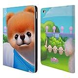 Head Case Designs Offizielle Boo-The World's Cutest Dog Freudig Charakter Kunst Brieftasche Handyhülle aus Leder für iPad Air 2 (2014)