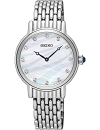 Watch Seiko Woman Steel Pearl Dial Swarovski Crystals SFQ807P1