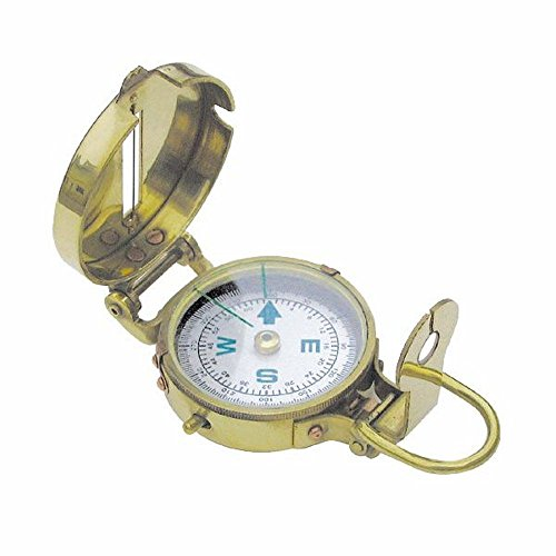 Armee Kompass, Englischer Peil- und Marschkompass, Messing poliert
