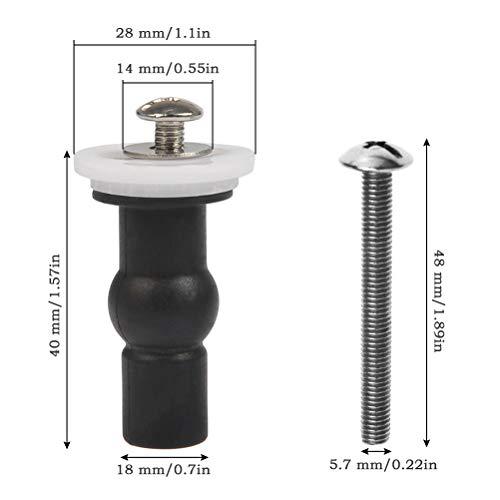 FOCCTS 4 Stücke WC Befestigungen Schrauben für Toilettensitz,Toilette Sitz Deckel Toilette Muttern Schrauben, Toilettendeckel