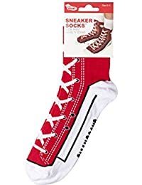 Funny Cotton Silly Socks (Red Sneaker (size 5-11))