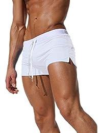 7340702fc88524 Tomsent 2017 Uomo Costume da Bagno Elastico Vita Bassa Slim per Nuoto  Spiaggia Mare Piscina Sport Slip Pantaloncini Calzoncini Mutande con…