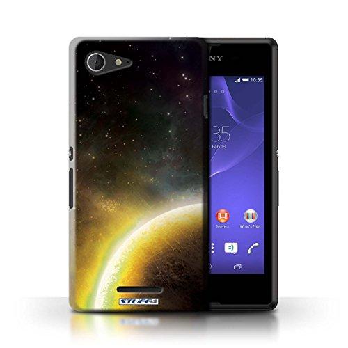 Kobalt® Imprimé Etui / Coque pour Sony Xperia E3 / Nébuleuse Orange conception / Série Cosmos Planète Jaune