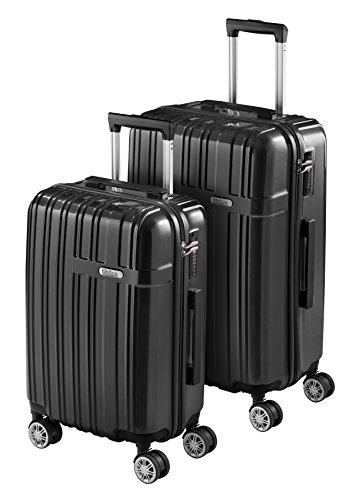 Juego de 2 Maletas de Viaje SULEMA fabricadas en ABS y Policarbonato Set Maleta Trolley Rígida y Súper Ligera con Cerradura TSA y 4 Ruedas Dobles