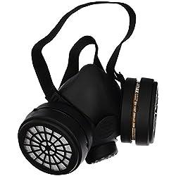 Ferko Safety Equipment AR-142/40F Mascarilla con 2 filtros A1, Negro