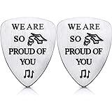 2 púas de guitarra personalizadas con grabado «We Are So Orud of You» para regalo de graduación