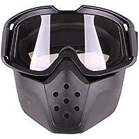 lā Vestmon Lunettes De Course,Lunettes De Moto Masque Vélo Amovible  Protection du Sable Anti 69721fc27373
