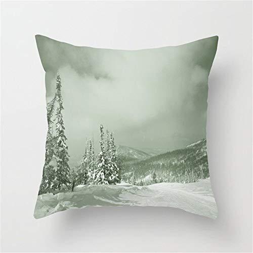 Klotr Fundas Almohada Winter day3 Cushion Covers Throw