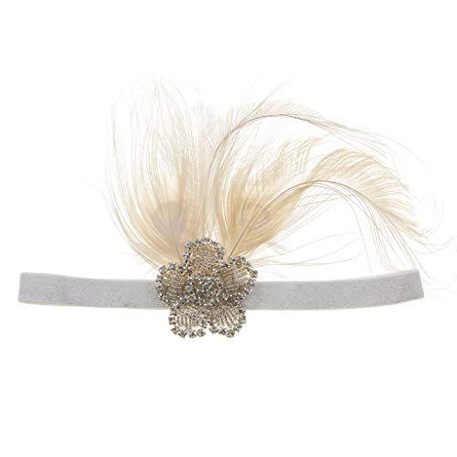 Fenteer Strass und Perlen Flappers Haarband Stirnband