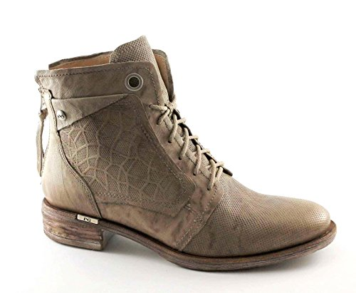 BLACK GARDENS 17162 taupe Schuhe Stiefel Frau Stiefel schnürt Ferse Reißverschluss Beige