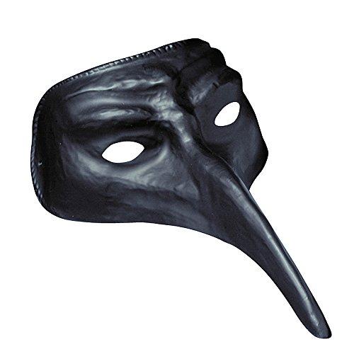 Nase Langer Mit Maske (Schwarze Halbmaske mit langer Nase für)