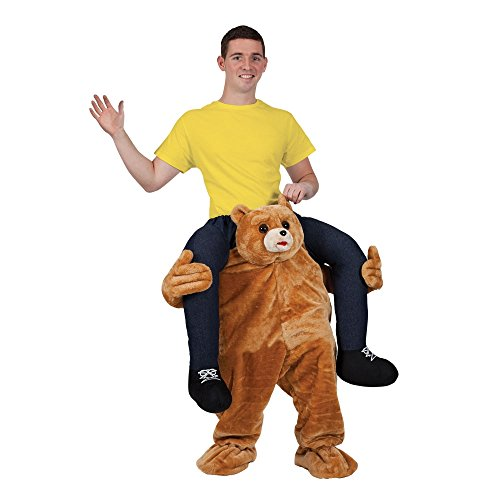 CUTE TEDDY BEAR CARRY ME MASCOT FANCY DRESS (Carry Me Kostüm Illusion)