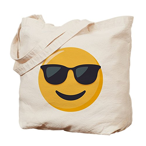 CafePress Tragetasche für Sonnenbrillen Emoji, canvas, khaki, S