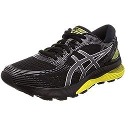 ASICS Gel-Nimbus 21, Chaussures de Running Compétition Homme, Multicolore (Black/Lemon Spark 003), 44 EU