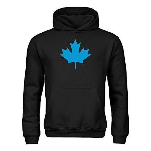 dress-puntos Kinder Kapuzensweatshirt Kanada Ahorn 20drpt15-kh00033-50 Textil black / Motiv hellblau Gr. 152/164