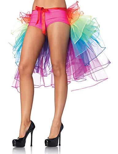 (FENTI Regenbogen Multicoloure Tute Roeckchen Ballett-Tanz-Rueschen Layered Tiered Kleid Rock)