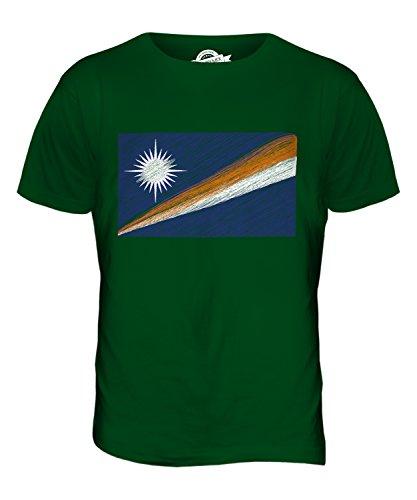 CandyMix Marshallinseln Kritzelte Flagge Herren T Shirt Flaschengrün