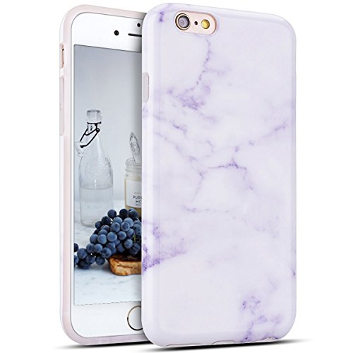 "CaseLover iPhone 6S Plus Hülle, Flexible iPhone 6 Plus Marmor Muster Silikon Hülle Schutz Handyhülle Dünn Weich TPU Schutzhülle Handytasche Etui Schale Bumper für iPhone 6 Plus/6S Plus 5.5\"", Lavendel"