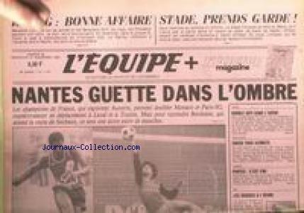 EQUIPE (L') [No 11677] du 26/11/1983 - NANTES GUETTE DANS L'OMBRE - CHAMPIONNAT DE FRANCE - AUXERRE - MONACO - PARIS-SG - LAVAL - TOULON - BORDEAUX - SOCHAUX - BOXE - ATHELTISME - CROSS - TENNIS - PORTES - SKI - LES SUISSES.