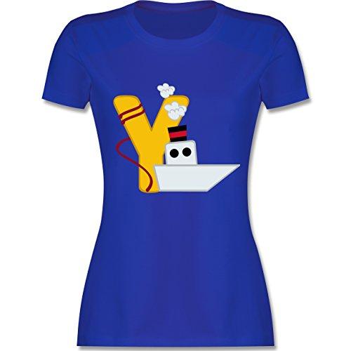 Anfangsbuchstaben - Y Schifffahrt - tailliertes Premium T-Shirt mit  Rundhalsausschnitt für Damen Royalblau