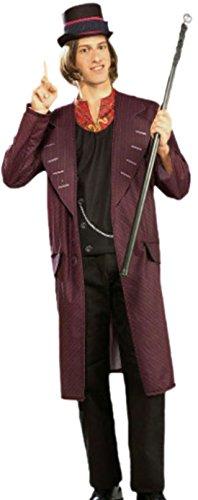 Zauberclown - Herren Willy Wonka, Charlie und die Schokoladenfabrik, Kostüm, L, (Wonka Kostüme Girl Willy)