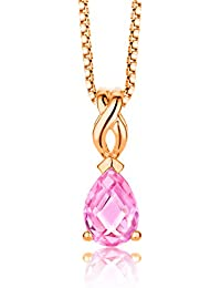 ByJoy Women's 925 Sterling Silver Pendant 45 cm Chain Rose Gold Plated Necklace