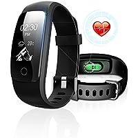 Tracker de Fitness avec moniteur de fréquence cardiaque, DBFIT Tracker d'activité, Montre connectée avec moniteur de sommeil, IP67 résistant à l'eau, Bracelet de Marche avec podomètre et fonction d'appel et Alerte SMS pour Téléphones iOS / Android